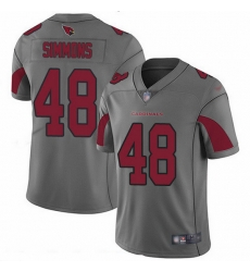 Nike Cardinals 48 Isaiah Simmons Silver Men Stitched NFL Limited Inverted Legend Jersey