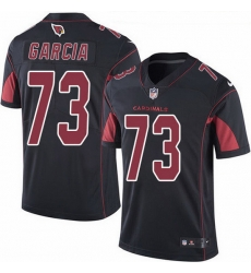 Nike Cardinals 73 Max Garcia Black Men Stitched NFL Limited Rush Jersey