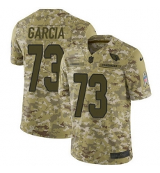Nike Cardinals 73 Max Garcia Camo Men Stitched NFL Limited 2018 Salute To Service Jersey