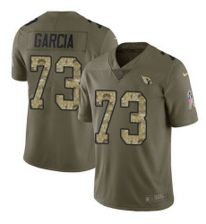 Nike Cardinals 73 Max Garcia Olive Camo Men Stitched NFL Limited 2017 Salute To Service Jersey