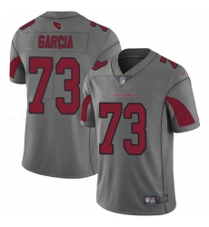 Nike Cardinals 73 Max Garcia Silver Men Stitched NFL Limited Inverted Legend Jersey