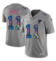 Atlanta Falcons 11 Julio Jones Men Nike Multi Color 2020 NFL Crucial Catch NFL Jersey Greyheather
