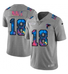 Atlanta Falcons 18 Calvin Ridley Men Nike Multi Color 2020 NFL Crucial Catch NFL Jersey Greyheather