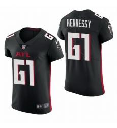 Atlanta Falcons 61 Matt Hennessy Nike Men Black Team Color Men Stitched NFL 2020 Vapor Untouchable Elite Jersey