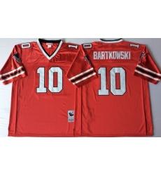 Men Atlanta Falcons 10 Steve Bartkowski Red M&N Throwback Jersey