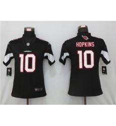 Women St.Louis Cardinals 10 DeAndre Hopkins Black  Color Jersey