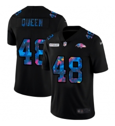 Baltimore Ravens 48 Patrick Queen Men Nike Multi Color Black 2020 NFL Crucial Catch Vapor Untouchable Limited Jersey