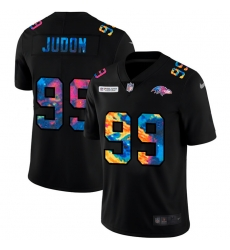 Baltimore Ravens 99 Matthew Judon Men Nike Multi Color Black 2020 NFL Crucial Catch Vapor Untouchable Limited Jersey