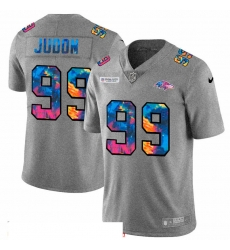 Men Baltimore Ravens 99 Matthew Judon Men Nike Multi Color 2020 NFL Crucial Catch NFL Jersey Greyheather