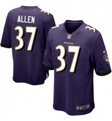 Men Nike Javorius Allen Baltimore Ravens Game Purple Team Color Jersey