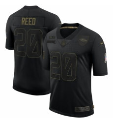 Men's Baltimore Ravens #20 Ed Reed Black Nike 2020 Salute To Service Limited Jersey