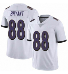 Men's Ravens Dez Bryant White Untouchable Vapor Limited Jersey