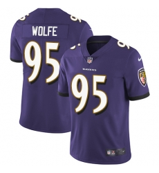 Nike Baltimore Ravens 95 Derek Wolfe Purple Team Color Men Stitched NFL Vapor Untouchable Limited Jersey