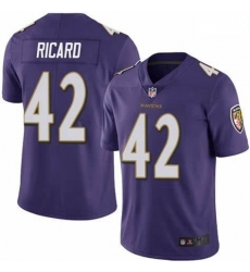 Nike Patrick Ricard Baltimore Ravens Limited Purple Team Color Vapor Untouchable Jersey Men's