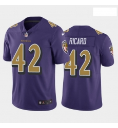 Nike Patrick Ricard Baltimore Ravens Limited Purple Team Rush Jersey Men's