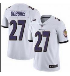 Nike Ravens 27 J K  Dobbins White Vapor Untouchable Limited Jersey