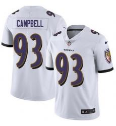 Nike Ravens 93 Calais Campbell White Men Stitched NFL Vapor Untouchable Limited Jersey