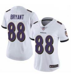 Women Baltimore Ravens Dez Bryant White Vapor Untouchable Limited Jersey