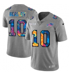 Buffalo Bills 10 Cole Beasley Men Nike Multi Color 2020 NFL Crucial Catch NFL Jersey Greyheather