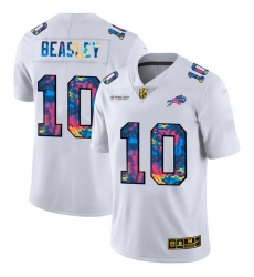 Buffalo Bills 10 Cole Beasley Men White Nike Multi Color 2020 NFL Crucial Catch Limited NFL Jersey