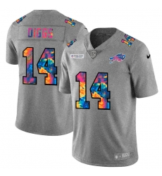 Buffalo Bills 14 Stefon Diggs Men Nike Multi Color 2020 NFL Crucial Catch NFL Jersey Greyheather