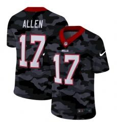 Buffalo Bills 17 Josh Allen Men Nike 2020 Black CAMO Vapor Untouchable Limited Stitched NFL Jersey