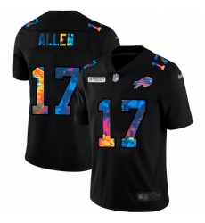 Buffalo Bills 17 Josh Allen Men Nike Multi Color Black 2020 NFL Crucial Catch Vapor Untouchable Limited Jersey