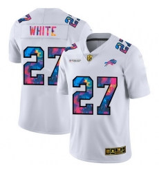 Buffalo Bills 27 Tre 27Davious White Men White Nike Multi Color 2020 NFL Crucial Catch Limited NFL Jersey