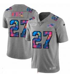 Men Buffalo Bills 27 Tre 27Davious White Men Nike Multi Color 2020 NFL Crucial Catch NFL Jersey Greyheather
