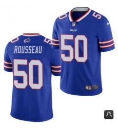 Men Buffalo Bills #50 Gregory Rousseau Blue 2021 Vapor Untouchable Limited Stitched NFL Jersey