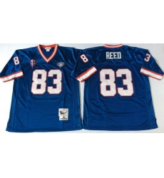 Men Buffalo Bills 83 Andre Reed Blue M&N Throwback Jersey