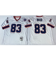 Men Buffalo Bills 83 Andre Reed White M&N Throwback Jersey