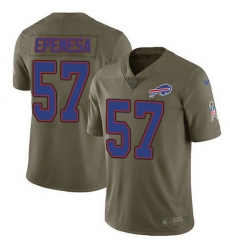 Nike Bills 57 A J  Epenesas Olive Men Stitched NFL Limited 2017 Salute To Service Jersey