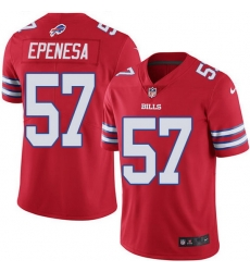 Nike Bills 57 A J  Epenesas Red Men Stitched NFL Limited Rush Jersey