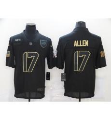 Nike Buffalo Bills 17 Josh Allen Black 2020 Salute To Service Limited Jersey