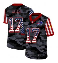 Nike Buffalo Bills 17 Josh Allen Camo 2020 USA Flag Salute To Service Limited Jersey