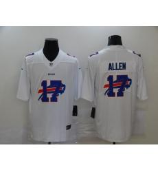 Nike Buffalo Bills 17 Josh Allen White Shadow Logo Limited Jersey