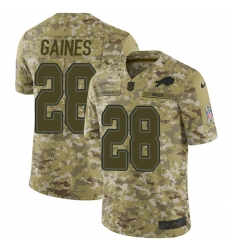 Nike Buffalo Bills 28 E J  Gaines Camo Men Stitched NFL Limited 2018 Salute To Service Jersey