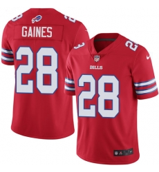 Nike Buffalo Bills 28 E J  Gaines Red Men Stitched NFL Limited Rush Jersey