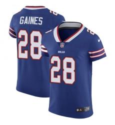 Nike Buffalo Bills 28 E J  Gaines Royal Blue Team Color Men Stitched NFL Vapor Untouchable Elite Jersey