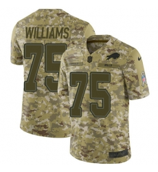 Nike Buffalo Bills 75 Daryl Williams Camo Men Stitched NFL Limited 2018 Salute To Service Jersey