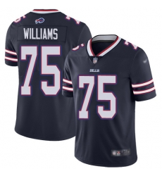Nike Buffalo Bills 75 Daryl Williams Navy Men Stitched NFL Limited Inverted Legend Jersey