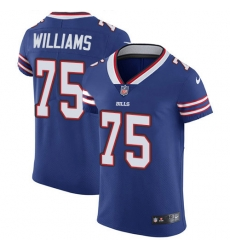 Nike Buffalo Bills 75 Daryl Williams Royal Blue Team Color Men Stitched NFL Vapor Untouchable Elite Jersey