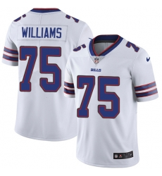 Nike Buffalo Bills 75 Daryl Williams White Men Stitched NFL Vapor Untouchable Limited Jersey