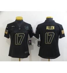 Women Nike Buffalo Bills 17 Josh Allen Black Women 2020 Salute To Service Limited Jersey
