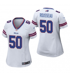 Women Nike Buffalo Bills Gregory Rousseau 50 White Vapor Limited Jersey