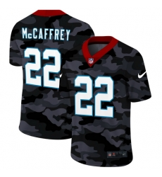 Carolina Panthers 22 Christian McCaffrey Men Nike 2020 Black CAMO Vapor Untouchable Limited Stitched NFL Jersey