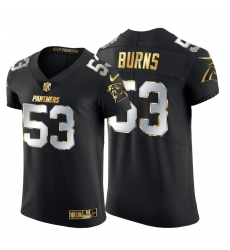 Carolina Panthers 53 Brian Burns Men Nike Black Edition Vapor Untouchable Elite NFL Jersey