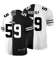 Carolina Panthers 59 Luke Kuechly Men Black V White Peace Split Nike Vapor Untouchable Limited NFL Jersey