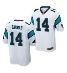 Men Nike Carolina Panthers 14 Sam Darnold White Vapor Limited Jersey